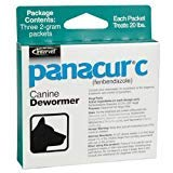 Merck Panacur C - Dewormer for Dogs up to 20 lbs (4 Pack) by Merck