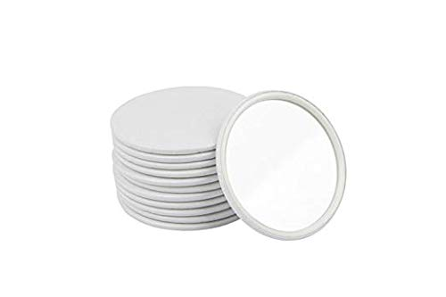 - Compact Mirror Bulk Round Makeup Glass Mirror for Purse Great Gift 2.5 Inch Pack of 12 (White)