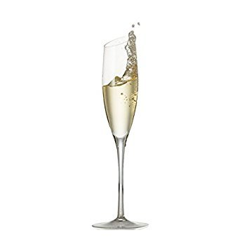 Champagne Flute Glasses - Lead-Free Crystal - 2 Glass Luxury Gift Set - Unique Hand Blown Crystal - Microfiber Cleaning Towel Included (Dom Perignon Flute)