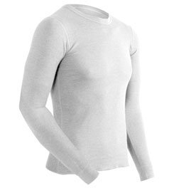 Coldpruf Basic Midweight Underwear Crew Shirt - Men's, Winter White, (Crew Midweight Long Underwear)