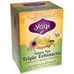 Yogi Tea Green Tea (contains caffeine) Triple Echinacea 16 tea bags - Echinacea Cleanser