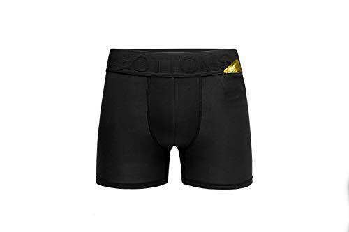 Briefs Bamboo Boxer (Bottoms Men's Underwear Boxer Briefs Compression Brief for Men Hidden Pocket Boxers)