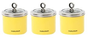 Morphy Richards 3x Small Kicthen Storage Canisters Teacoffeesugar
