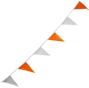 4'' x 17'' Orange/White Vinyl Pennant by CORTINA SAFETY PRODUCTS