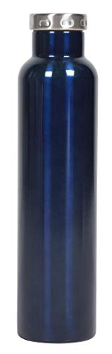 - FIFTY/FIFTY Wine Growler Water Bottle, Narrow Mouth, Seven Fifty, 750ml/25 oz, Glossy Blue