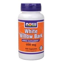 White Willow Bark, 400 mg, 100 Caps by Now Foods (Pack of 4)