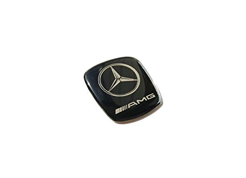 kit-car Mercedes Benz AMG Style Emblem for Gear Shift knob - Logo Metal Badge - Black Color - 1 - Logo Gear