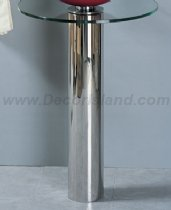 (Ronbow Vanities S1020 Metal Stand Stainless steel pedestal Polished Chrome)