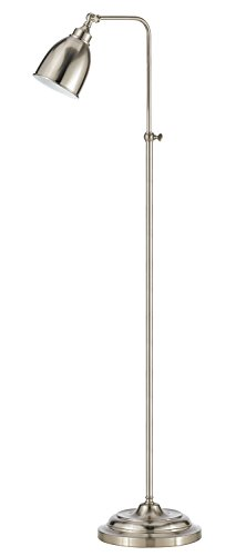 Cal Lighting BO-2032FL-BS Traditional One Light Floor Lamp from Pharmacy Collection in Pwt, Nckl, B/S, Slvr. Finish, 20.00 inches