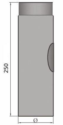 Rauchrohr Ofenrohr  Verlängerung 150mm grau  Ø 150 mm