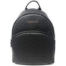 MICHAEL Michael Kors Abbey Jet Set Large Leather Backpack (Black 2018)