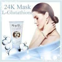 Korea 24K(ทเวนตี้โฟร์เค.) Mask L-Glutathione Refresh & Life up Silver: 24K Korean Mask Natural Gold Mineral Revitalizes, smooth, soft, youthful. 220 ml.