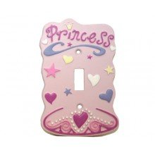 Pink Princess Single Switch Plate Nursery Decor Lightswitch Cover