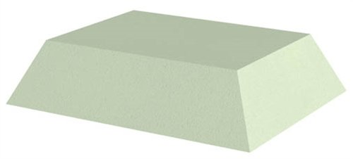 Uncoated Rectangle Patient Positioning Sponge, 3'' Rectangle, Base:12-1/2'' x 10-1/4'' x 3''; Top:10'' x 7-1/2'' by Colortrieve (Image #1)