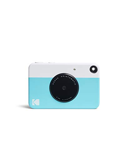 Kodak PRINTOMATIC Digital Instant Print Camera (Blue), Full Color Prints On ZINK 2x3 Sticky-Backed Photo Paper - Print...