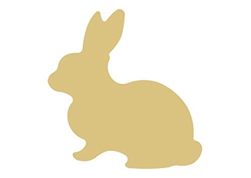 Rabbit Style 8 Unfinished Wood Shape Cutout Variety Sizes USA Made Farm/ Animal/ Theme Easter Decor (6