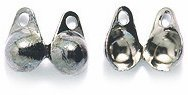 Shipwreck Beads Bead Tip Double Cup Double Loop, 3mm, Metallic, Gunmetal, - Bead Tips Double Cup