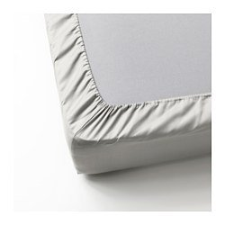 Ikea Fitted sheet, light gray , Full/Double