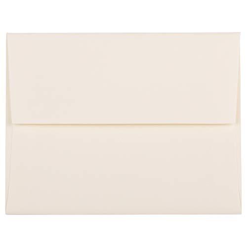 JAM PAPER A2 Strathmore Invitation Envelopes - 4 3/8 x 5 3/4 - Natural White Linen - 50/Pack