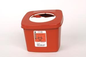 COVIDIEN/MEDICAL SUPPLIES MULTI-PURPOSE SHARPS CONTAINERS Needle Syringe Collection Container, 0.5 Gal, Rotor Opening Lid, 4½