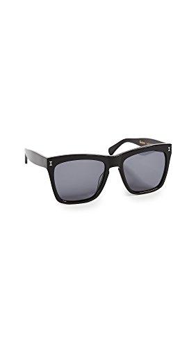 Illesteva Women's Los Feliz Sunglasses, Black/Grey, One - Sunglasses Illesteva