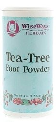 WISE WAYS HERBALS Tea Tree Foot Powder, 3 OZ ()