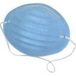 Personal Touch Blue Disposable Surgical Face Mask Molded With Aluminum Nose Piece Pack of (150)