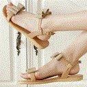 Laruise De Femmes Sandales Plates Cuir Femmes De Cuir Sandales Plates L'abricot L'abricot Laruise Cuir 7qcwqz8RW