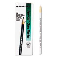 Sharpie 2060 Peel-Off China Markers White Dozen