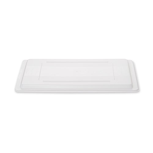 Rubbermaid Commercial Food Storage Lid for Food/Tote Box, White, FG350200WHT