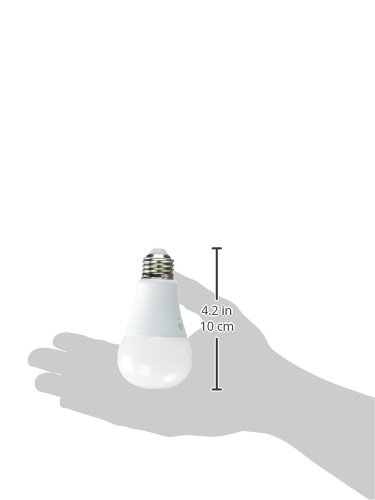 GE Lighting 67615 LED A19 Light Bulb with Medium Base, 10.5-Watt, Soft White, 4-Pack, 4 Piece