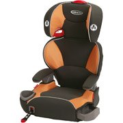 Image of the Graco AFFIX Highback Booster Car Seat, Tangerine