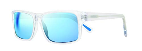 Revo Polarized Sunglasses Finley Rectangle Frame 57 mm, Crystal Frame, Blue Water