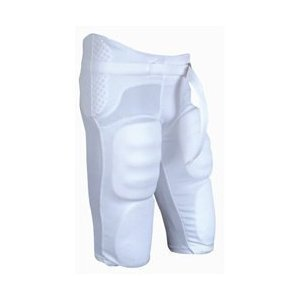 CHAMPRO Youth Integrated Football Pants - White