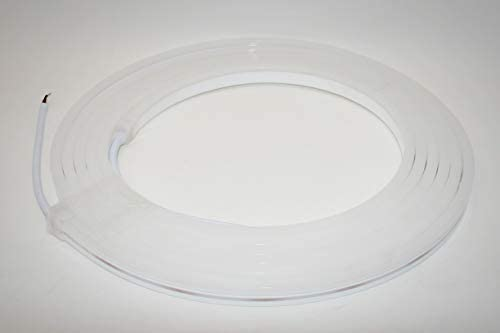 LED Neon Flex RGB 120LEDs/M (Länge: 5m oder 20m 24V DC, Neon-Flex LED-Weiß Stripe ohne Lichtpunkte, durchgängig leuchtend, 10W/m, Weiß LED-Streifen (5 Meter)