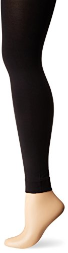 HUE Women's Styletech Blackout Footless Tights, Black, 2 (Denier Footless Tights)