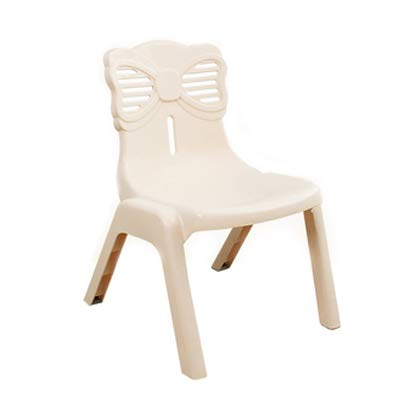 LJLJX Plastic Chair, Euro Style Modern Chair,Lightweight Anti-Slip Stool,Kids Learning Chairs,Used for Playrooms, Schools, Daycares and Home,Beige
