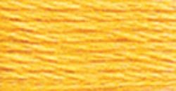 DMC 6-Strand Embroidery Cotton Floss, Medium Yellow ,Pack of 12