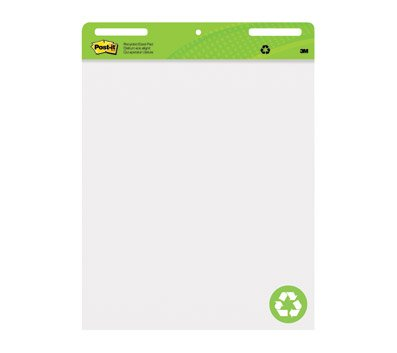 Post-it Super Sticky Easel Pads, 25'' x 30'', 30% Recycled, White, Pack of 2 Pads by Post-it