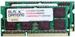 8GB 2X4GB Memory RAM for HP EliteBook 8440p 204pin 1333MHz PC3-10600 DDR3 SO-DIMM Black Diamond Memory Module ()