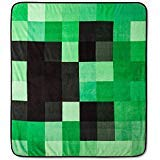 Minecraft Creeper Plush Throw Blanket - 53 in. x 53 in. by Mojang