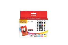 Canon USA CLI-226 4 COLOR COMBO PACK WITH PP-201 (CLI-226...
