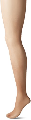 L'eggs Women's Silken Mist Control Top Sheer Toe Run Resist Silky Sheer Leg Panty Hose, Sun Beige, A ()