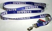 Lead Cowboy (Hunter Dallas Cowboys Pet Ribbon Lead, Large)