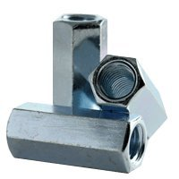 1//2 F x 1 L 3//8-16 to 1//4-20 Coupling Reducer Nut Zinc - Qty-25