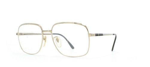 American Optical 6407 Gold and Black Authentic Men - Women Vintage Eyeglasses Frame made in New England