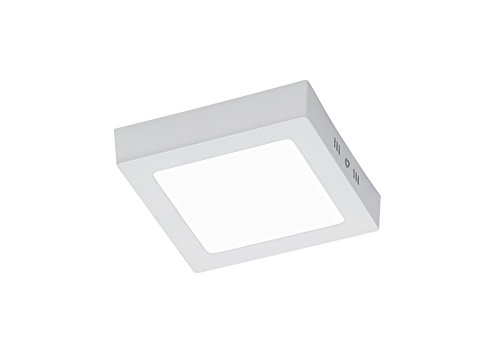 Plafoniere Garage Led : Trio  zeus plafoniera led cm bianco amazon