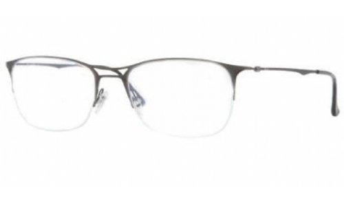 Ray Ban RX8715 Tech Eyeglasses-1128 Brusched Dark Gunmetal-53mm