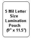 5 Mil Letter Size Lamination