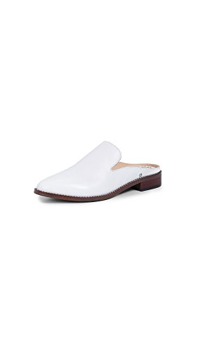 Bright Edelman White Laddie Leather Mule Women's Sam qwdPnUII